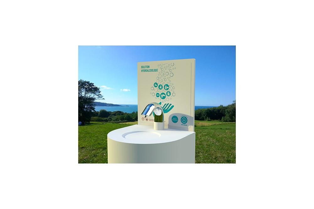 Fontaine hygifont à solution hydroalcoolique