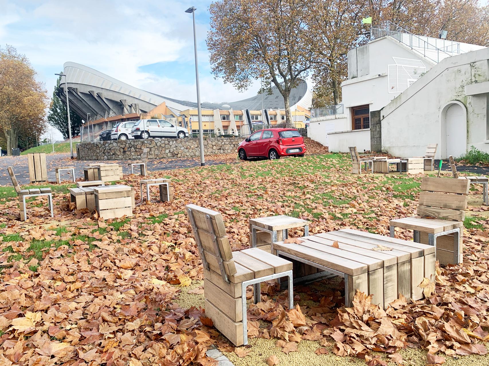Chaises et table Parc de Beaublanc Limoges