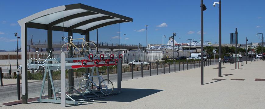 Programme Alvéole coup de pouce vélo : abris vélos Auréo mmcité
